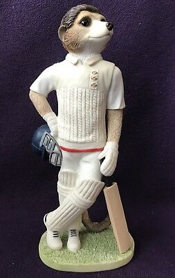 """COUNTRY ARTISTS MAGNIFICENT MEERKATS CA04523 """"Waiting To Bat"""" CRICKET PLAYER"""