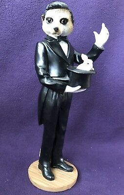"COUNTRY ARTISTS MAGNIFICENT MEERKATS CA04497 ""Magician"" Magic Top Hat Rabbit"