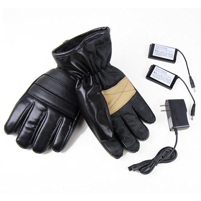 Electric Outdoor Motorcycle Heated Gloves Warmer Hands Rechargeable 2 Battery
