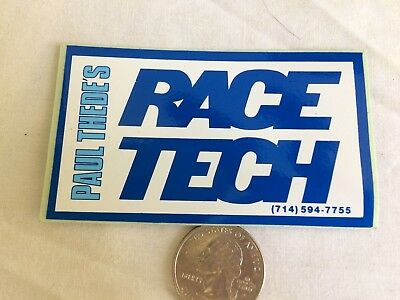 Vintage RACE TECH Paul Thede's  motocross racing motorcycle Sticker 80's decal