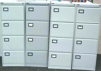 4 drawer grey steel filing cabinet