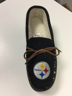 Pittsburgh Steelers Men's Team Color Moccasin Slippers