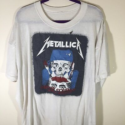 Vintage METALLICA t Shirt Size 2XL 80's Crash Course Justice For All...vtg metal