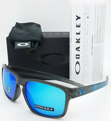 NEW Oakley Sliver sunglasses Aero Grey Sapphire 9269-1857 Asian Fit AUTHENTIC