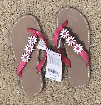 3bf684e98e14 CARTERS NWT GIRLS Flip Flops Pink And White Stripe Size 11 12 ...
