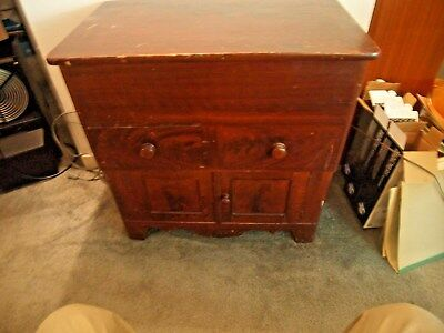 Antique Lift Top Commode / Washstand / Dry Snik / ORIGINAL Finish
