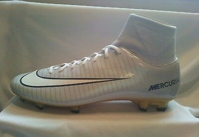 online retailer 8561a d528f Nike Mercurial Victory Vi Cr7 Df Fg Sock Football Boot Grey Gold Uk 9 (Eur
