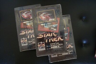 Lot of 3 1991 Star Trek Official Cards Series II Wax Boxes 25TH ANNIVERSARY
