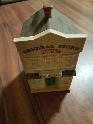 1992 h&hd hearth and home designs GENERAL STORE  cookie jar mint condition