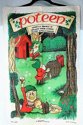 """Vintage POTEEN Irish Linen Tea Towel 29 1/2"""" by 19"""" by Linanne  5909"""