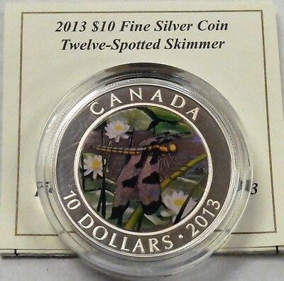 Canada 2013 $10 Pure silver 12 spotted skimmer Proof. 049