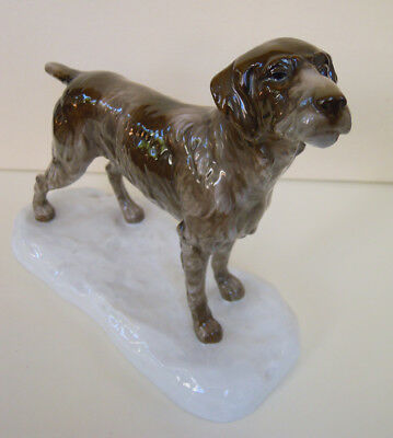 ART DECO ROSENTHAL PORCELAIN FIGURINE German Wire-Haired Wirehaired Pointer #830