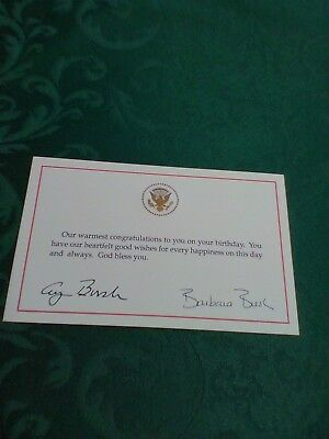 President George Bush & Barbara Birthday Wishes