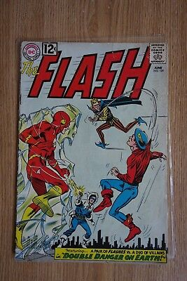 DC The Flash #129 (June,1962) 2nd GA Flash Crossover, JSA cameo in black