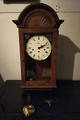 Vintage Howard Miller Wall Clock Mint Condition With Chimes