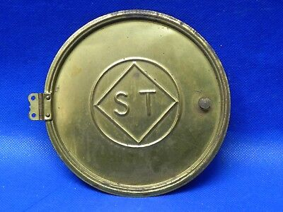 "Antique Vintage  Seth Thomas Clock Back Doors Cover Brass 5-3/8"" Diameter"