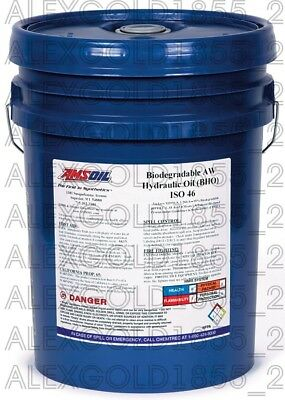AMSOIL Biodegradable Hydraulic Oil ISO 46    5 GALLON PAIL