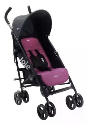 JOIE PINK NITRO STROLLER/BUGGY/PUSHCHAIR  IN PINK With Raincover