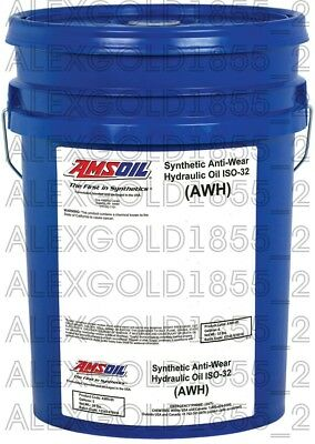 AMSOIL Synthetic Anti-Wear Hydraulic Oil - ISO 32   5 GALLON PAIL