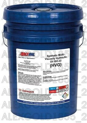 AMSOIL Synthetic Multi-Viscosity Hydraulic Oil - ISO 22   5 GALLON PAIL