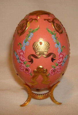 Franklin Mint Faberge Imperial Jeweled Egg Collection Coronation Crown Salmon