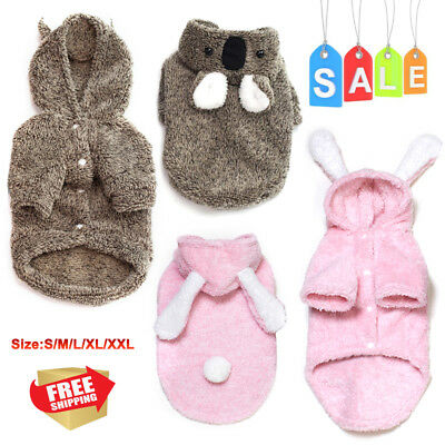 Pet Dog Cat Clothes Sloth Double-faced Rabbit Ears Winter warm dressing Sweater
