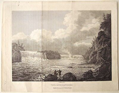 View of the Falls of Niagara. Dec. 22, 1798 by J. Stockdale, Piccadilly, Weld