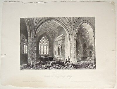 Interior of Holy-Cross Abbey. Bartlett, 1842, Scenery and Antiquities of Ireland