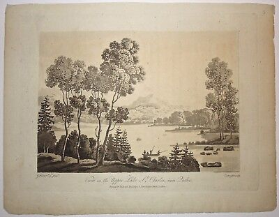View of Upper Lake St. Charles, George Heriot 'Travels through.. Canadas' 1807