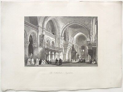 """The Cathedral  Angouleme."" T. Allom, Saddler, ""Europe Illustrated.."" 1876 print"