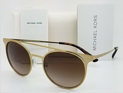 2892151329c22 New Michael Kors Grayton sunglasses MK1030 116813 52 Gold Dark Brown  Gradient