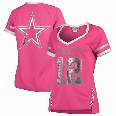 Dallas Cowboys Shirt Women's Vixen NFL Jersey Pink