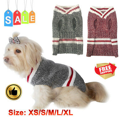 Pet Dog Cat Sweater Red Christmas Dressing Costume Winter Warm Apparel Coat New