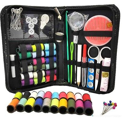 Sewing Kit Measure Scissors Thimble Thread Needle Storage Box Travel Sewing Kit