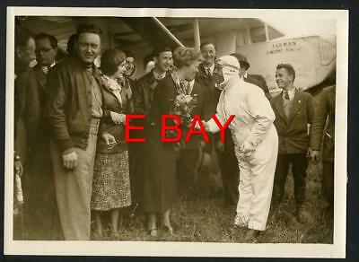 Vintage AMELIA EARHART Arrives In Paris   1932 French Press Publicity/ Photo