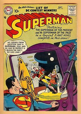 Superman #113 May 1957, DC, 1939 Series VG+