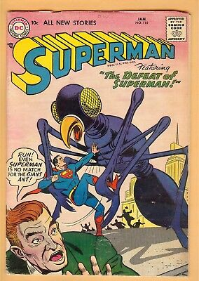 Superman #110 January 1957, DC, 1939 Series VG-