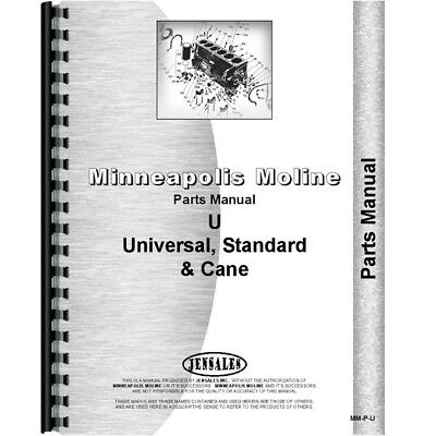 Parts Manual Made for Minneapolis Moline Tractor Model UTS (1947 - 1951)