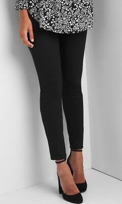 779b91fc24ad8 NEW MATERNITY CLOTHES Leggings Black Under Belly Ponte Pants NWT sz ...