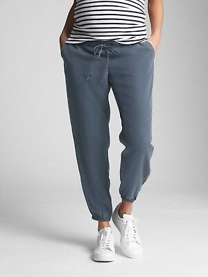 Gap Maternity Drawstring Joggers In Tencel Size M- Vintage Navy- NWT