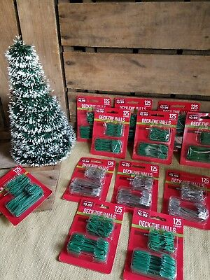 6000 Hooks Christmas Tree Ornament bulk Green Silver Wholesale Resale Wreath DIY