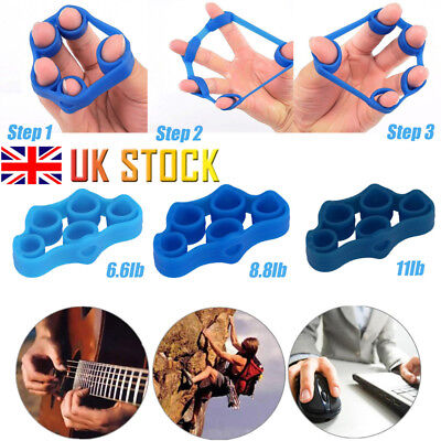 1/2/3/6PCS Hand Muscle Exerciser Finger Stretcher Grip Wrist Exercise Trainer UK