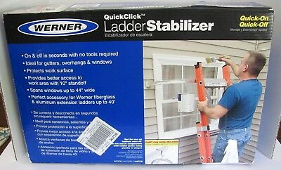 """Werner AC78 Quick Installation And Removal Ladder Stabilizers, Aluminum, 44"""""""