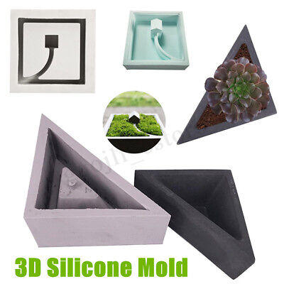 Handmade Geometric Silicone Flower Pot Mold Succulent Planter Vase Craft Mold