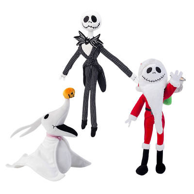 Disney Nightmare Before Christmas Zero Jack Santa Poseable Plush Doll Toys