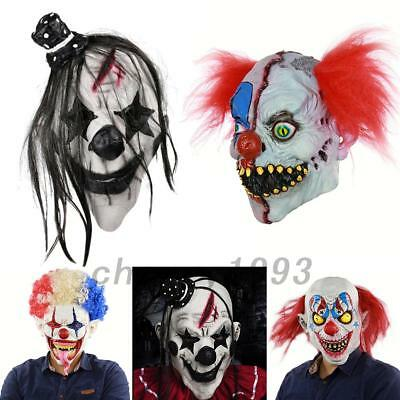 Halloween Latex Maske Dämon Clown Horror Kostüm Gesichtsmaske für Party Karneval