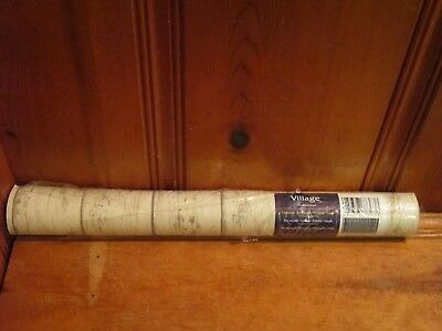 One Double Roll 11 Yards Village Prepasted Vinyl Wallpaper Rustic Faux Wood Look