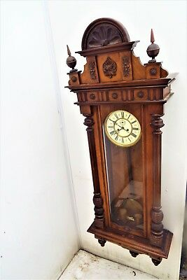 Huge Vienna rare maker movement mahogany cased
