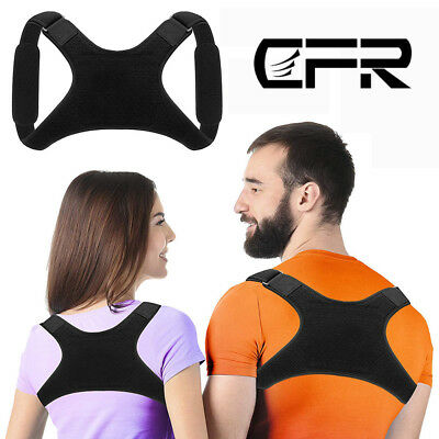 Adjustable Back Shoulder Support Posture Corrector Brace Therapy Pain Relief