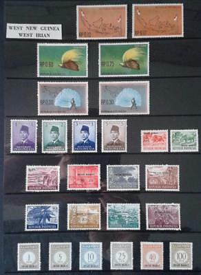 COLLECTION OF WEST IRIAN-WEST NEW GUINEA MIXED LOT OF 26 diff mint stamps MUH